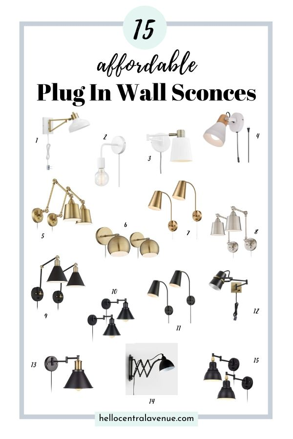 15 affordable plug in wall sconces for your bedroom.
