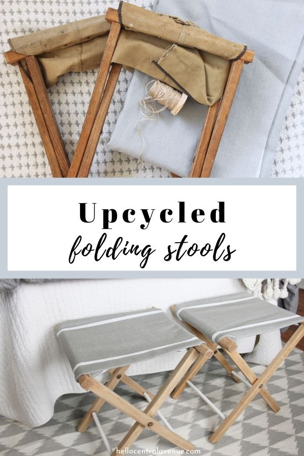 These upcycled folding stools were an easy DIY project that gave some old items a new life!