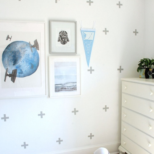 DIY Custom Wall Decals with Spray Paint