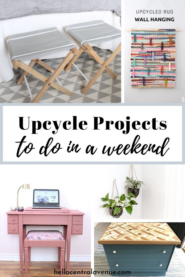 Here are 16 DIY upcycled projects you can do in a weekend!