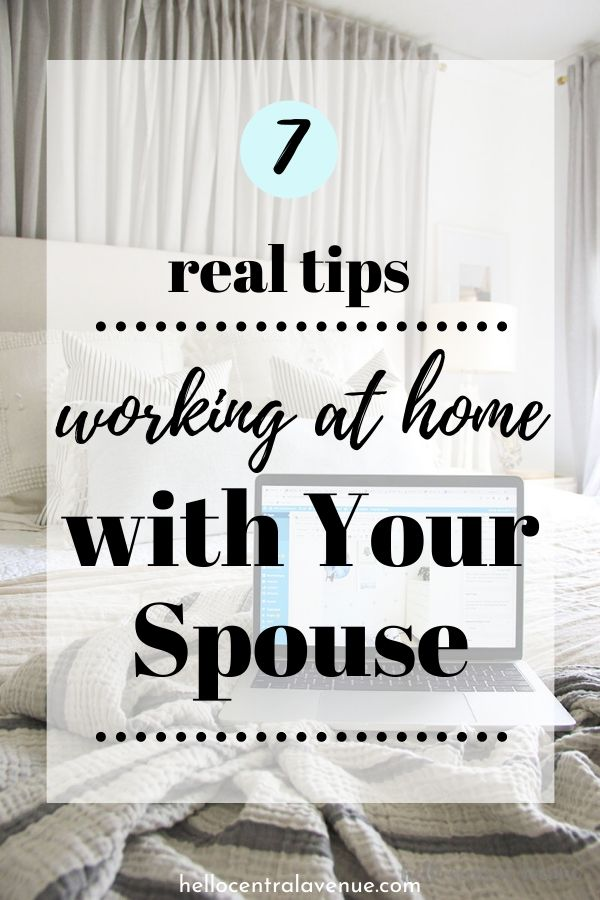 Tips for working at home with your spouse or partner