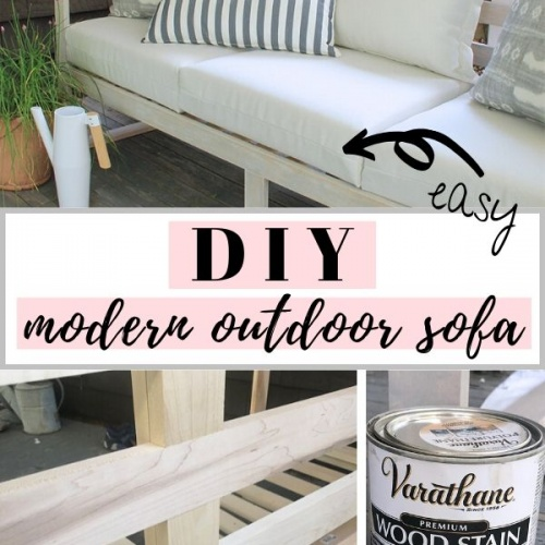 Easy DIY Modern Outdoor Sofa