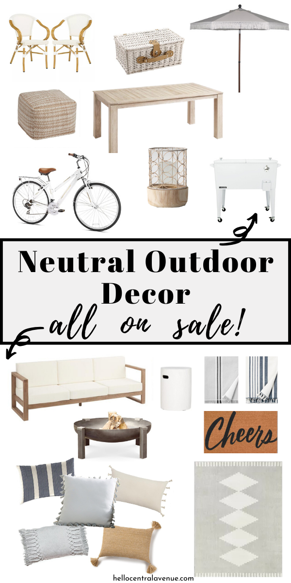 Get this neutral outdoor decor all on sale for Memorial Day to update your outdoor space!