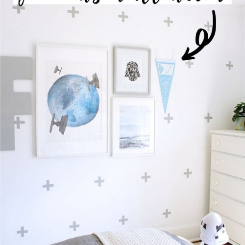 Using Pennant Flags for Kids Wall Decor