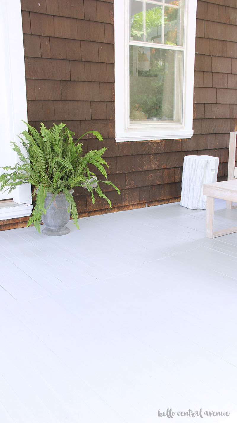 The Wagner paint sprayer was quick and easy to use and gave the porch great paint coverage!