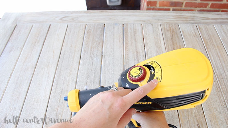 Use the Wagner paint sprayer for quick and easy painting!
