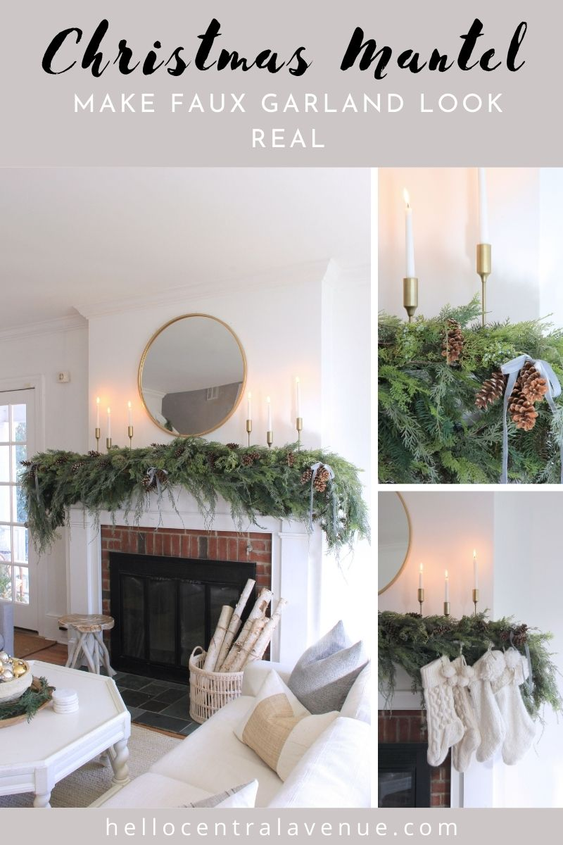 How to make faux garland look real for Christmas.