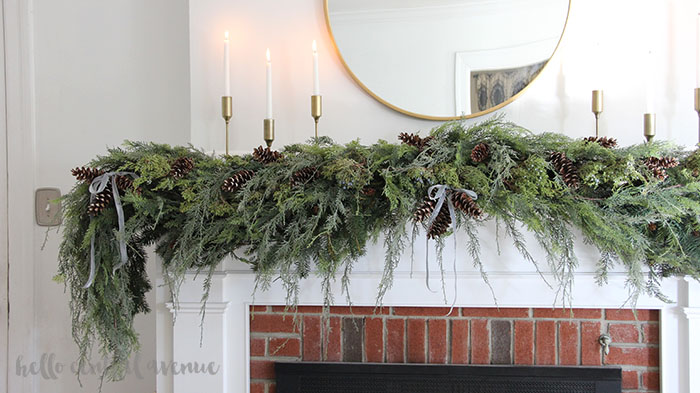 How to make faux garland look real for your Christmas decorating.